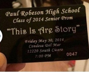 sja LW1407 Notes This Is Are Story theme for prom at Robeson school 140611