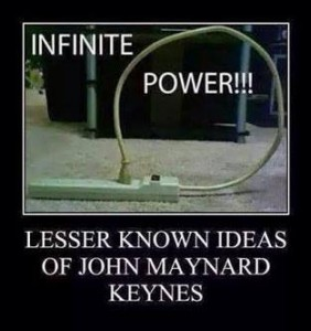 sja Keynesianism as power cord plugged into itself 140908 10378916_10152532266852226_2233470244975347369_n