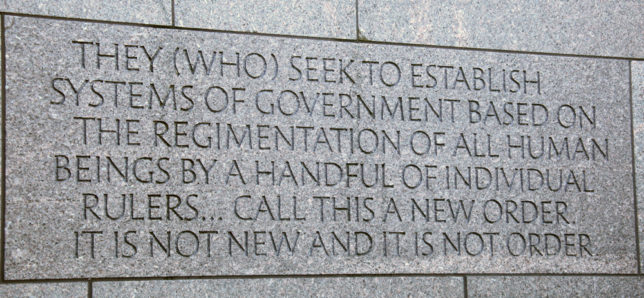 SPLC and the Left's Growing Philanthropic Tyranny  FDR-Memorial-Inscription-644x298