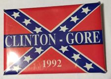 sja Clinton Gore button NUMBER 2 with Confederate flag 150622