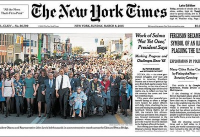 sja NYTimes crops Bush out of picture at Selma 150309