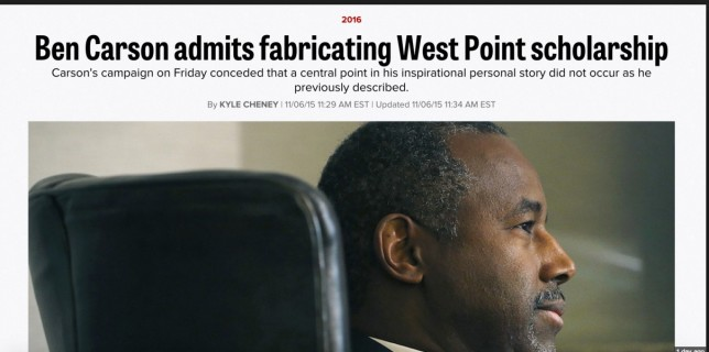 sja deception blog Ben Carson original headline in Politico 151109